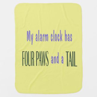 Pet Alarm Clock - Yellow Background Stroller Blanket