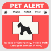 Pet Alert Emergency sticker