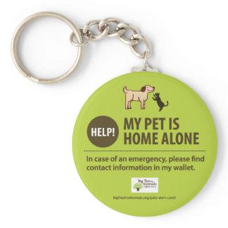 Pet Alert Keychain | Help! My pet is home alone!
