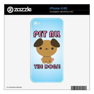 Pet All the Dogs! Kawaii Puppy iPhone skin iPhone 4S Skin