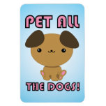 Pet All the Dogs! Kawaii Puppy Rectangle Magnets
