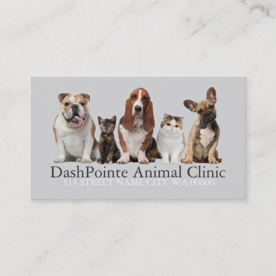 Pet animal clinic shelter veterinary business card zazzle pet animal clinic shelter veterinary business card colourmoves