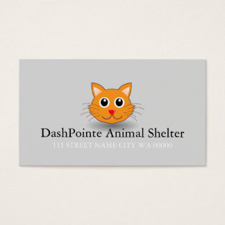 Pet Animal Shelter Control Cat Business Card