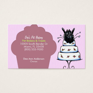 Pet Bakery Treats Parties Pomeranian Plum Cupcake Business Card