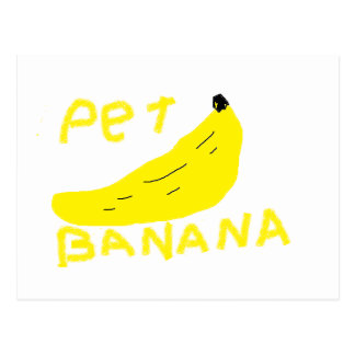 pet banana postcard