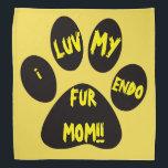 """pet bandana<br><div class=""""desc"""">I love my endo fur mom!</div>"""