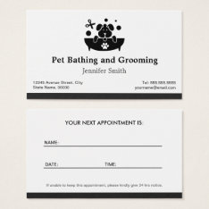 Pet Bathing And Grooming - Appointment Business Card at Zazzle