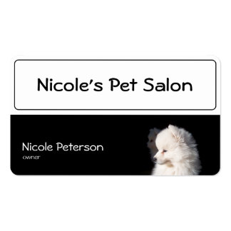 pet beauty salon - dog head Double-Sided standard business cards (Pack of 100)