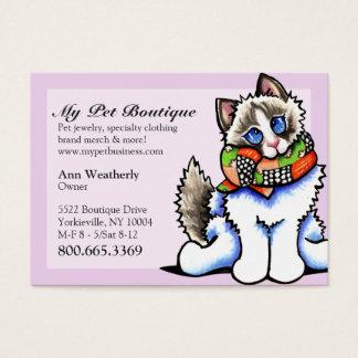 Pet Boutique Fancy Ragdoll Cat Business Card