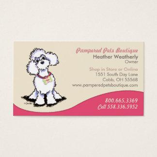 Pet Boutique Gift Shop Poodle Pink Business Card