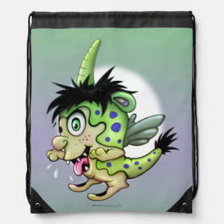 PET BOWIE Drawstring Backpack monster
