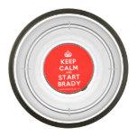 [Crown] keep calm and start brady  Pet Bowl