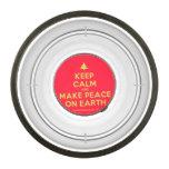 [Xmas tree] keep calm and make peace on earth  Pet Bowl