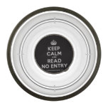 [Crown] keep calm and read no entry  Pet Bowl