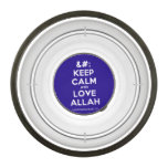 [No Crown] keep calm and love allah  Pet Bowl
