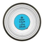 [Crown] keep calm and love omar  Pet Bowl