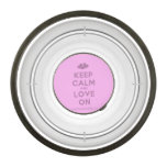 [Two hearts] keep calm and love on  Pet Bowl