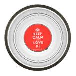 [Crown] keep calm and love pj  Pet Bowl