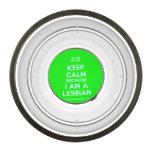 [UK Flag] keep calm because i am a lesbian  Pet Bowl