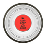 [Cutlery and plate] keep calm and eat food  Pet Bowl