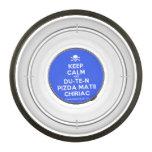 [Skull crossed bones] keep calm and du-te-n pizda matii chiriac  Pet Bowl