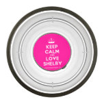 [Knitting crown] keep calm and love shelby  Pet Bowl
