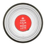 [Crown] keep calm and make lovr  Pet Bowl