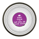 [Two hearts] keep calm and we will be back soon  Pet Bowl