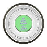 [Crown] keep calm and eat cake  Pet Bowl