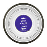 [Moustache] keep calm and love peha  Pet Bowl