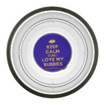 [Two hearts] keep calm cuse i love my bubbies  Pet Bowl