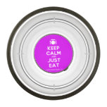 [Cutlery and plate] keep calm and just eat  Pet Bowl