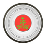[Cutlery and plate] keep calm and don't eat my face  Pet Bowl
