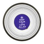 [Crown] keep calm and love allah  Pet Bowl