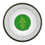 [Knitting crown] keep calm and knit on  Pet Bowl