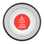 [Crown] keep calm and love robbie  Pet Bowl