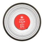 [Cutlery and plate] keep calm and eat kfc  Pet Bowl