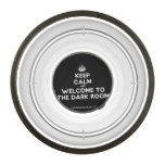 [Crown] keep calm and welcome to the dark room  Pet Bowl