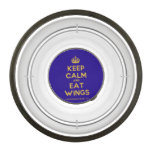 [Crown] keep calm and eat wings  Pet Bowl