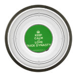 [Crown] keep calm and love duck dynasty  Pet Bowl