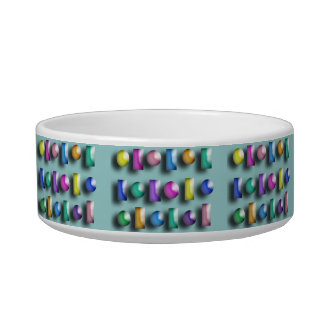 Pet Bowl - 3D shapes with background Cat Water Bowls