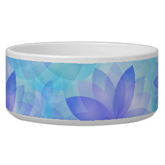 Pet bowl abstract lotus flower