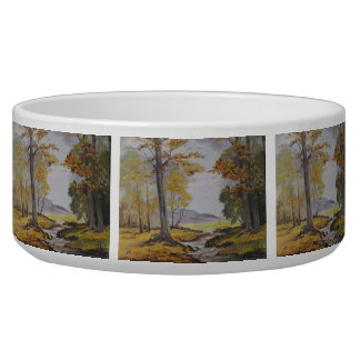 Pet Bowl Ann Hayes Painting Forest Stream