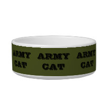 Pet Bowl Army Cat
