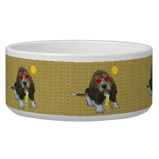Pet Bowl Basset Hound Summer Time