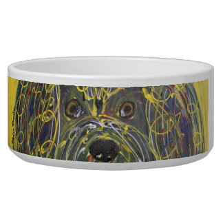 Pet Bowl - Berry Puppy Dog by Soco Freire