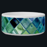 "Pet Bowl customizable template dog or cat bowl<br><div class=""desc"">A beautiful design of ocean greens, lake blues, aquamarine, lavendar, navy, pine, water, ocean, glass, light... . The pet bowl for your dog or your cat is fully customizable and a template object which allows you to customize this item to make it uniquely yours! and don&#39;t forget that all items...</div>"