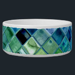 """Pet Bowl customizable template dog or cat bowl<br><div class=""""desc"""">A beautiful design of ocean greens, lake blues, aquamarine, lavendar, navy, pine, water, ocean, glass, light... . The pet bowl for your dog or your cat is fully customizable and a template object which allows you to customize this item to make it uniquely yours! and don&#39;t forget that all items...</div>"""
