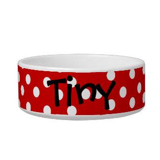 Pet Bowl: Red Polka Dots Bowl