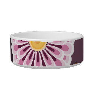 Pet bowl with daisy patterns